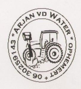 Arjan vd water logo